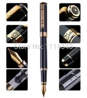 nueva pluma de héroe al por mayor-Picasso pen verdadero hombres y mujeres dedicados Black Gold Fountain Pen 902 regalo