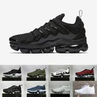 marka yeni sıcak spor ayakkabılar toptan satış-SıCAK SATıŞ 2018 Yeni 2018 TN Artı VM Metalik Zeytin Erkekler Mens Koşu Tasarımcı Lüks Ayakkabı Sneakers Marka Eğitmenler 40-45 Nike Air Max AIRMAX Vapormax