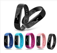 Wholesale free activities - ID115 Smart Bracelet Fitness Tracker Step Counter Activity Monitor Band Alarm Clock Vibration Wristband for iphone Android phone free DHL