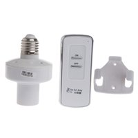 Wholesale E27 Remote Control Holder - Wireless Remote Control E27 Screw Light Lamp Bulb Holder Cap Socket Switch