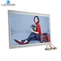 ledli tv kartı toptan satış-21.5 inç Açık Çerçeve 1080 P usd sd kart yuvası ile full hd led tv taşınabilir mkv oynatıcı dijital ekranlar