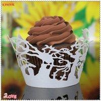 kekler için pişirme kağıdı toptan satış-100 adet Kağıt Kek Kupası Cupcake Kılıfları Gömlekleri Muffin Mutfak Pişirme Düğün Mavi Kek Düğün Dekorasyon Kek araçları 7ZC22