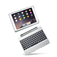 Wholesale waterproof keyboard case - Cover For iPad Air Case And Keyboard Backlit Slot Cover Flip Wireless Bluetooth For iPad
