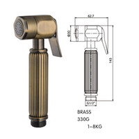 Wholesale antique brass bathroom faucet - New Arrival Handheld Bidet Douche Toilet Sprayer Single Hand Cleaning Diaper Faucet Antique Brass Bathroom Shower