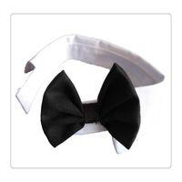 черный галстук желтые полосы оптовых-Новый галстук-бабочка в полоску с белым галстуком Выберите цвет черный / белый или черный / желтый