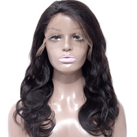 Wholesale medium length human hair lace wig for sale - Group buy Brazilian Virgin Hair Body Wave Human Hair Lace Front Wigs Density Straight Deep Wave Preplucked Human Hair Wigs For Black Women