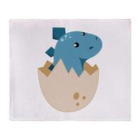 bebek atkı atmak toptan satış-Bebek Stegoceras Dinozor Yumuşak Polar Atmak Battaniye Kanepe Sıcak Yatak Battaniye Yetişkin Çocuk Battaniye Ev Tekstili