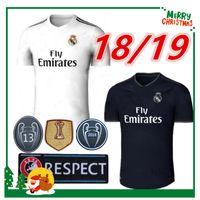Wholesale long sleeves jersey - Long sleeve Champions League 18 19 Real madrid Soccer Jersey Ronaldo Modric Kroos Sergio Ramos Bale 2018 2019 ASENSIO ISCO shirt