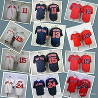 Wholesale red jersey 13 resale online - 2019 Mens Red Sox Clay Buchholz Hanley Ramirez Dustin Pedroia David Price baseball Jerseys color red gray blue white top quality