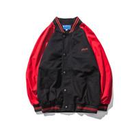 ротационная манжета оптовых-DEKUSI человек осень вставить вращатель манжеты печати Бейсбол куртка свободные пальто мужская одежда повседневная мужской ветровка одежда