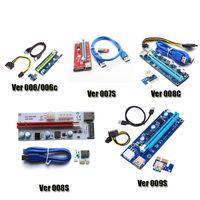 Wholesale Pci Sata Usb Card - PCI-E Ver 006 006C 007S 008C 009S Ver006C Ver008C Ver009S Express Riser Card 1x-16x USB 3.0 Cable For BTC Bitcoin Miner DHL