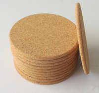 Wholesale Wood Drink Coasters - 500pcs Classic Round Plain Cork Coasters Drink Wine Mats Cork Mats Drink Wine Mat ideas for wedding and party gift