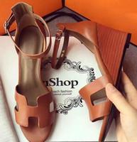 dünne high heel plattform sandalen großhandel-Frauen 100% Echtes leder Sommer High Heel Frühling Sommer Sandalen Mode Frauen Schuhe Ankle Straps Fischmund Dünne Ferse Plattform