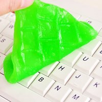 Wholesale Cleaning Gel Keyboard - 2017 Super Dust Cleaning Glue Slimy Gel Wiper For Keyboard Laptop Car Cleaning Sponge Car Accessories magic slime