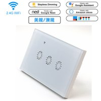 Wholesale glass gang - Smart Wall Touch Light Switch Glass Panel Wireless Remote APP Control, Alexa and Google Home, Timer Function No Hub, 3 Gang Wall Switch