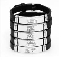 Wholesale Fortnite Bracelets Adjustable Silicone Wristband DHL Hot Game Fans Souvenir Fashion Men Women Bracelet Styles