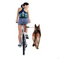 Wholesale Walk Bike - Wholesale-New Nylon elastic Dog Bicycle Traction Belt Rope Bike Attachment Pet Walk Run Jogging Lead Pets Leash Distance Keeper Hands Free