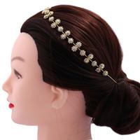 волосы алмазные повязки оптовых-Простая и щедрая невеста, полная бриллиантов и аксессуаров для волос Instagram fashion hipster street shooting jewelry Headbands