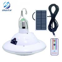 weiße zelte im freien großhandel-Im Freien 22 LED angetriebene Solar-Yard, die Zelt-Licht kampierende hängende Lampe mit 3,7 V / 1 W Fernsteuerungs-reinem weißem Sonnenkollektor wandert