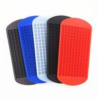 ücretsiz aksesuarlar üreticisi toptan satış-160 Izgaralar DIY Küçük Ice Cube Kalıp Silikon Buz Tepsi Cube Makinası Meyve Ice Cube Makinası Bar Mutfak Aksesuarları DHL