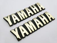 yamaha tank decals al por mayor-Etiqueta engomada del emblema de la etiqueta del emblema de la insignia del tanque de combustible del ABS 125mm de la motocicleta 3D para el conjunto de Yamaha