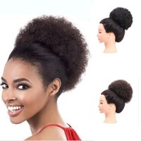 Wholesale hair buns for black women for sale - Group buy Sara Curly Hair Chignon Bun Hairpiece Elastic Fake Classic Hair Extensions For Black White Women Clip in Hair Chignon G CM Inch