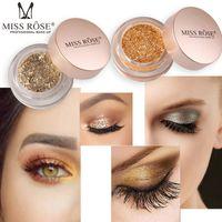 Wholesale face glitter resale online - Miss Rose Shimmer Eyeshadow Palette Waterproof Eyes Pigment Single Color Face Highlight Mermaid Glitter Bling Eyeshadow