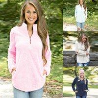 kürklü hoodie giyim toptan satış-Kadın Hoodies Tişörtü Sonbahar Tasarımcı Hoodie Kazak Uzun Kollu Gevşek Moda Kürk Ceket Giyim Toptan S-XL Tops
