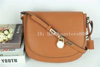Wholesale saddle bag blue - High quality lock handbag fashion women famous brand MICHAEL KALLY crossbody bag luxury designer saddle purse lady hasp message bags female