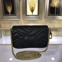 Wholesale christmas files - Genuine Leather Leather Handmade Expanding File Lady Bag Handbags European And American Style Versatile Interior Compartment Two-Tone+box