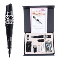 Wholesale Tattoo Starter Guns - 1 Permanent Makeup MOSAIC MACHINE KIT Tattoo Gun Needles Caps Complete Cosmetic Tattoo Kits For Tattooing Eyebrow Lip Eyeliner