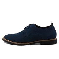 sapatos oxford para o outono venda por atacado-Arte ecologicamente correta Plus Size 45 Homens Oxfords Faux camurça Men Casual Shoes Primavera Moda Outono Oxford Shoes Men