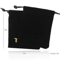 Wholesale wholesale jewelry bags - NEW 2 COLORS Wholesale Black and blue colors high-grade flannelette pouches jewelry packaging for gift bears jewelry bags for gift