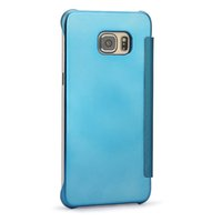 Wholesale view case galaxy s6 online - New For Galaxy S9 PLUS S8 S8 Plus Note S7 EDGE S6 Edge and S6 Edge Plus Case J7 prime Mirror View Clear Flip Case Cover Hyperbolic Mirror