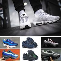 zapatos de baloncesto botas para correr al por mayor-basketball shoes de la gota Venta al por mayor Zapatillas Hombre Airs Cojín 95 OG Sneakers Botas Auténtico 95s Nuevo Walking Descuento Zapatos deportivos Tamaño 36-46 running shoes