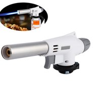 Wholesale Electronic Flame Lighter - Flame Gun Wind Fully Automatic Electronic Flame Tool Butane Burners Gas Adapter Torch Lighter Hiking Camping Equipment E2S