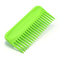 Wholesale Wide Tooth Comb Wholesale - Green Large Wide Tooth Reduce Hair Loss Anti-static Detangling Hair Straighten Comb Hairstyling Care Tool