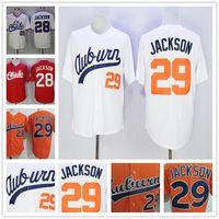 Wholesale Vintage Jersey Baseball - Auburn Tigers College Baseball #29 Bo Jackson Orange White Throwback 1986 vintage Memphis Chicks #28 red Stitched Jersey Free Shipping S-3XL