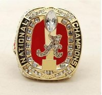 Wholesale Alabama Rings - 2018 New Arrival NCAA 2017 Alabama Crimson Tide Football National Championship Ring Replica Drop Shipping
