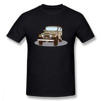 крейсер fj оптовых-Последние Fj 40 Land Cruiser Футболка для унисекс сумасшедший дизайн автомобиля для мальчика шею одежду