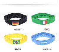 ingrosso palla brasiliana-SF_UPS Inghilterra Spagna Brasile bandiera nazionale Fascia calcio tifosi pallone da calcio Fascia per capelli 5,5 * 54 centimetri per il 2018 Russia coppa del mondo