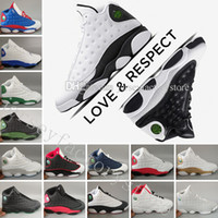 Wholesale Cat Army Green - 13 mens basketball shoes sneakers sports Wheat Hyper Royal History of Flight Altitude Love & Respect Black Cat DMP Grey Toe Bred Hologram 3M