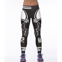 dijital baskı leggins toptan satış-Moda Sporting Spor Legging Kadın Ayak Bileği Uzunluğu Sıkı Pantolon Sıcak Yıldız Dijital Baskı Leggins Ropa Deporte Mujer 75Z