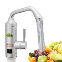elektrischer heißwasserhahn groihandel-Großhandel Elektrische Küche Warmwasserbereiter Sofort Warmwasserhahn Heizung Kalte Heizung Wasserhahn Durchlauferhitzer