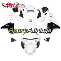 enjeksiyon kalıbı motosiklet parkur kiti toptan satış-Honda CBR600RR F5 2003 2004 Yıl Için beyaz Siyah Tam Fairings Kiti 03 04 Enjeksiyon Kalıp Vücut Kitleri Motosiklet Fairing Carenes Carenes Kapakları