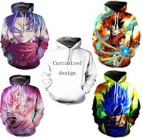 Wholesale Dragon Ball Z Hoodie - New Fashion Couples Men Women Unisex Clothes Dragon ball Z 3D Print Hoodies Sweater Sweatshirt Jackets Pullover Top TT221