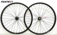 paire de roues vtt carbone achat en gros de-FANTECY 29er sans carbone VTT roues 29 pouces VTT vélo super léger VTT XC carbone roues UD finition mate 30mm largeur 24 profondeur