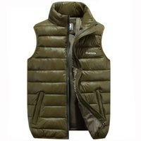 Wholesale men s winter vest casual resale online - Men Sleeveless Vest Jacket Winter Outwear Vest Male Slim Coats Vest Mens Windproof Warm Waistcoat Hot