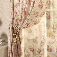kleine vorhänge großhandel-Cretonne Recommended New Flower Curtains Wohnzimmer Schlafzimmer Korean Garden Ehezimmer in Small Girl