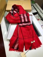 d2d31cb8451 Мужская   женская дизайнер шарф длинные плед кашемир зимний шарф роскошный  подарок черный темно-фиолетовый красный 6 поп цвет Бесплатная доставка